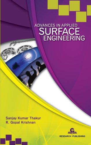 Advances in Applied Surface Engineering: Sanjay Kumar Thakur;