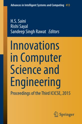 Innovations in Computer Science and Engineering 2016: Proceedings of the Third ICICSE, 2015 (...