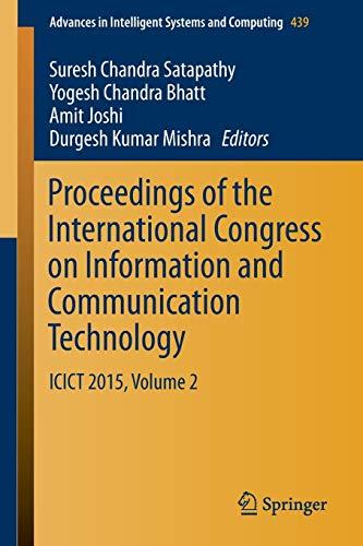 Proceedings of the International Congress on Information: Suresh Chandra Satapathy