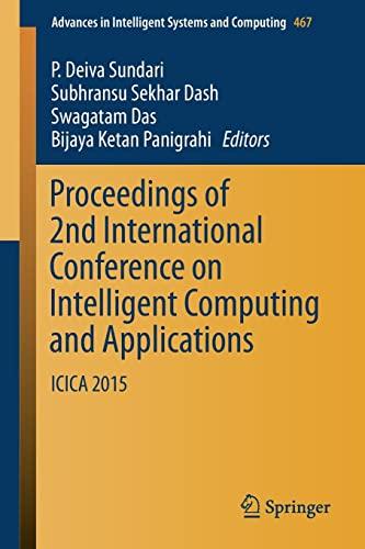 Proceedings of 2nd International Conference on Intelligent Computing and Applications - Deiva Sundari, P. / Dash, Subhransu Sekhar