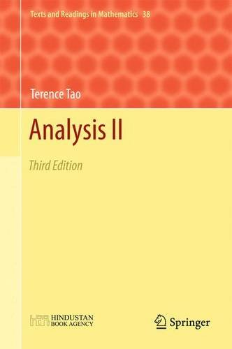 9789811018039: Analysis II: Third Edition (Texts and Readings in Mathematics)