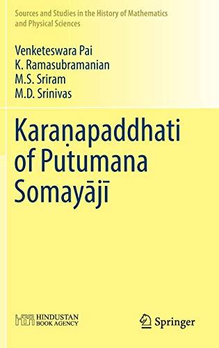 Kara?apaddhati of Putumana Somayaji: Venketeswara Pai (author),