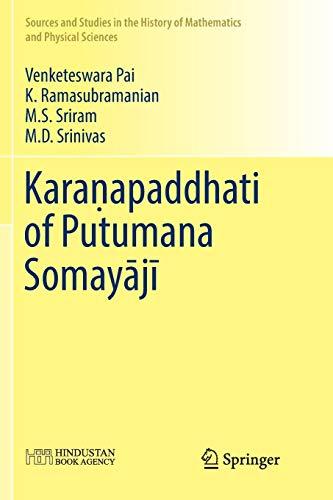 Karanapaddhati of Putumana Somayaji (Paperback): Venketeswara Pai, K.
