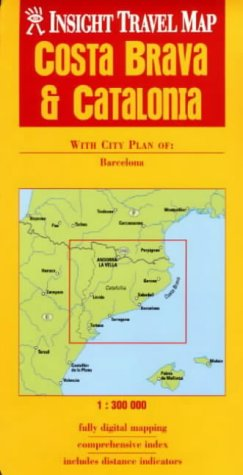 9789812347664: Costa Brava/Catalonia Insight Travel Map
