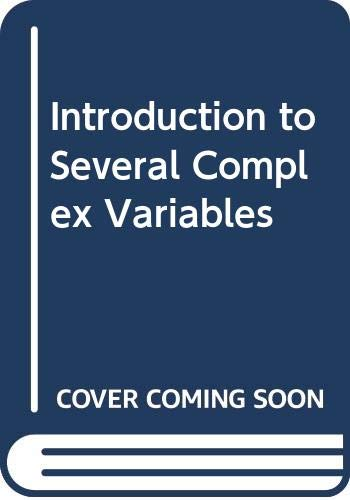 9789812386908: Introduction to Several Complex Variables