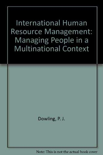 9789812400819: International Human Resource Management: Managing People in a Multinational Context