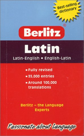 Berlitz Pocket Dictionary Latin-English (Berlitz Dictionaries) (English: Inc. Berlitz International