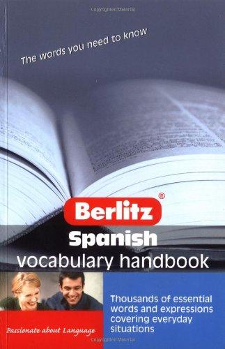 9789812466952: Spanish Vocabulary Berlitz Handbook (Berlitz Handbooks)