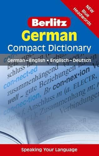 9789812468789: German Compact Dictionary (Berlitz Compact Dictionary)