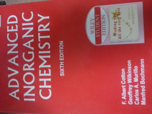 9789812530448: Advanced Inorganic Chemistry, 6th Edition