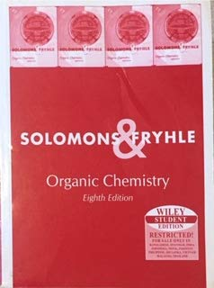9789812530592: Organic Chemistry Eighth Edition Solomons & Fryhle Wiley Student Edition