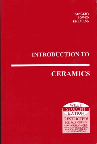 9789812531414: Introduction to Ceramics. (=Wiley Series on the Science and Technology of Materials).