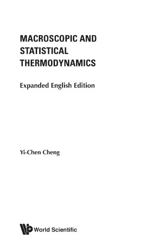 9789812566645: Macroscopic and statistical thermodynamics: expanded english edition