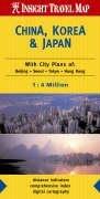 China, Korea and Japan Insight Travel Map