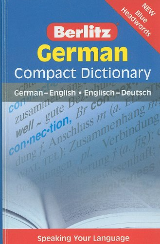 9789812683588: German Compact Dictionary: German-English/Englisch-Deutsch (Berlitz Compact Dictionary)