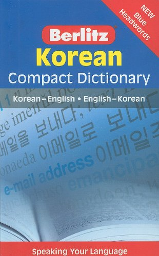 9789812686503: Berlitz Compact Dictionary: Korean