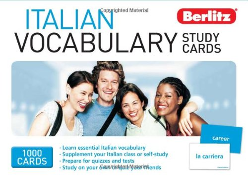 9789812686916: Italian Vocabulary Study Cards (Berlitz Study Cards) (English and Italian Edition)