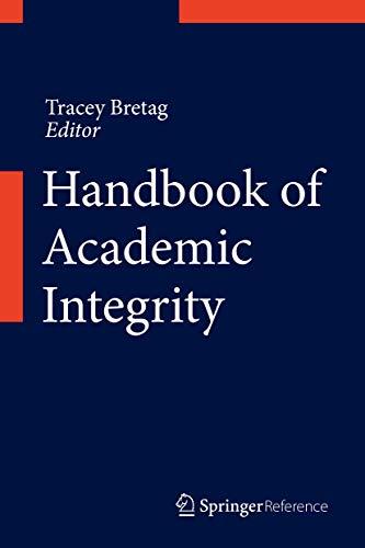 Handbook of Academic Integrity: Tracey Bretag