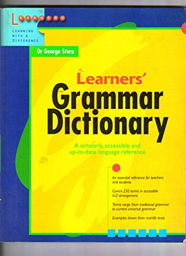 9789814070409: Learners' Grammar Dictionary