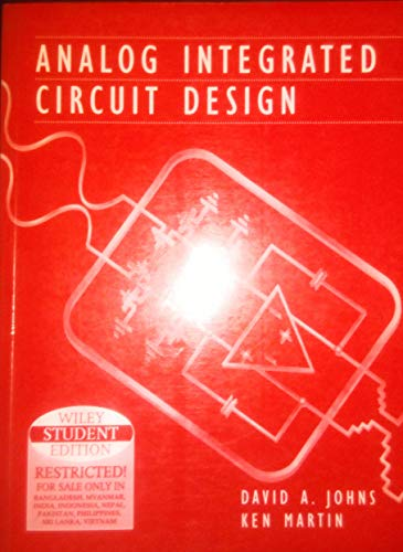 9789814126472: Analog Integrated Circuit Design (Livre en allemand)