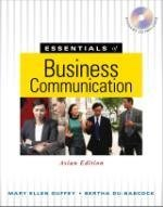 9789814227902: Essentials of Business Communication, Asian Edition (For Sale in Asia Only!)