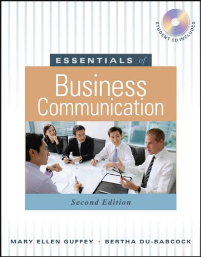 9789814319171: Essentials of business Communication