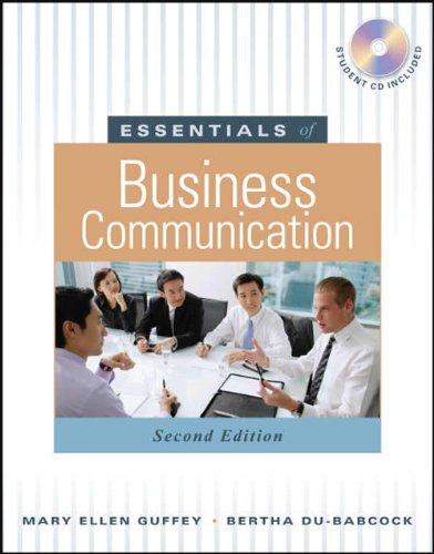 9789814319171: Essentials of business Communication