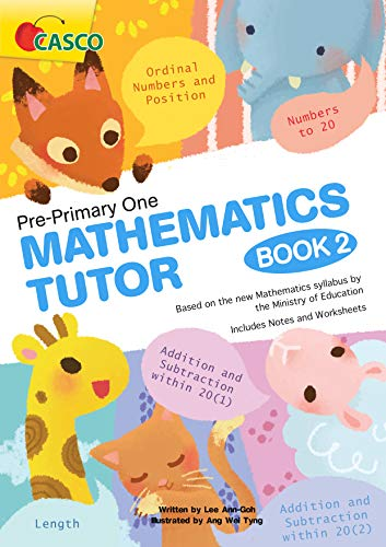 9789814326773: Pre-Primary One (Pre-K) Mathematics Tutor Book 2 ~ Perforated Colored Pages ~
