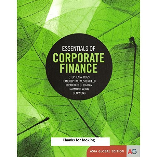 Essentials of Corporate Finance: Stephen A. Ross,