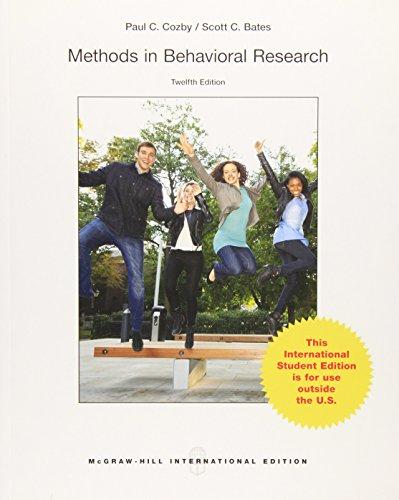 9789814577090: Methods in Behavioral Research (Int'l Ed)