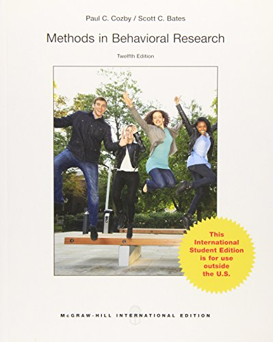 9789814577090: Methods in Behavioral Research, 12e
