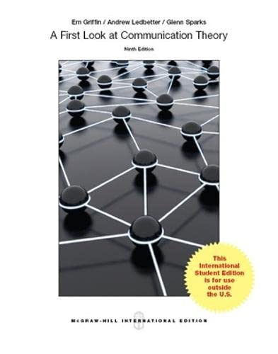 9789814577168: First Look at Communication Theory