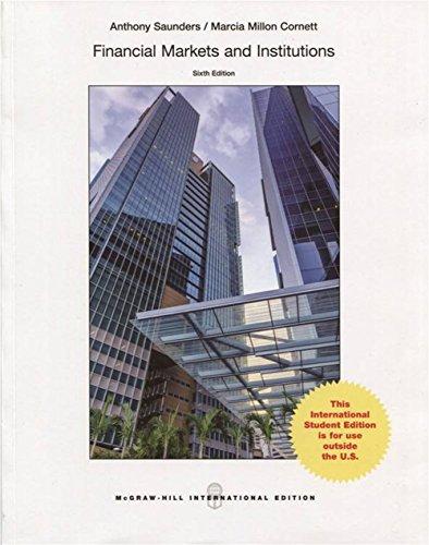 9789814577434: Financial markets and institutions (Economia e discipline aziendali)
