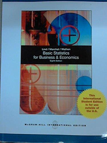 Basic Statistics for Business and Economics,8ed: linda