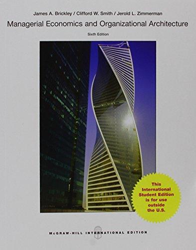 9789814646932: Managerial Economics & Organizational Architecture