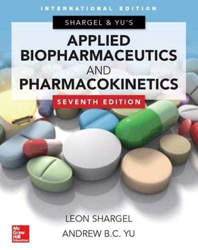 9789814670241: Applied Biopharmaceutics & Pharmacokinetics