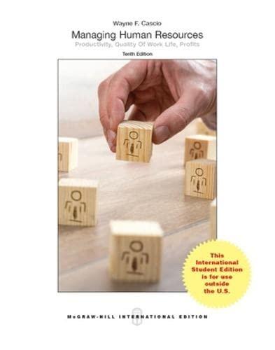 9789814714266: Managing Human Resources by Wayne Cascio , 10th International Edition