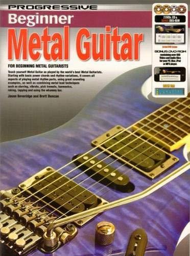 9789829118806: CP11880 - Progressive Beginner Metal Guitar - Book/CD/DVD