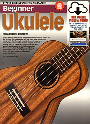 11888 - Progressive Beginner Ukulele - Book/CD/DVD: Peter Gelling