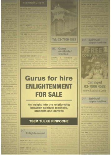 9789834188788: Gurus for Hire Enlightenment for Sale: An Insight into the Relationship between Spiritual Teachers, Students and Centres
