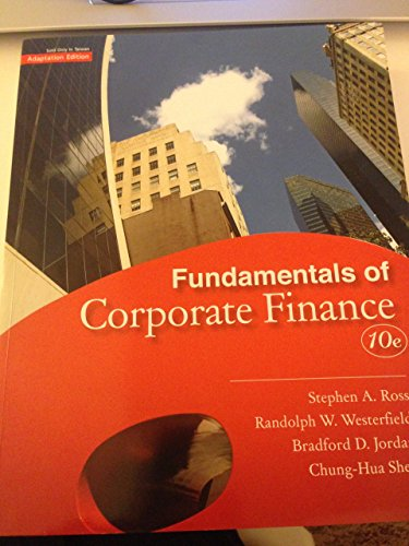 9789861579672: Fundamentals of Corporate Finance 10th Edition (Paperback)