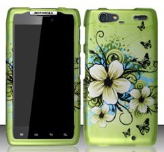 9789867469137: Motorola Droid Razr MAXX XT913 / XT916 (Verizon) Hawaiian Flowers Design Hard Case Snap On Protector Cover + Car Charger + Free Neck Strap + Free Wrist Band