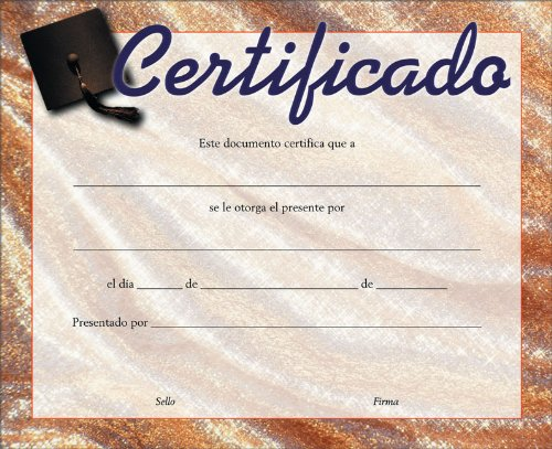 9789870100072: Certificado para toda ocasión pack de 20 (Spanish Edition)