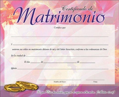 9789870100089: Certificado de matrimonio pack de 20 (Spanish Edition)