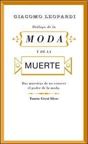 9789870435822: DIALOGO DE LA MODA Y DE LA MUERTE