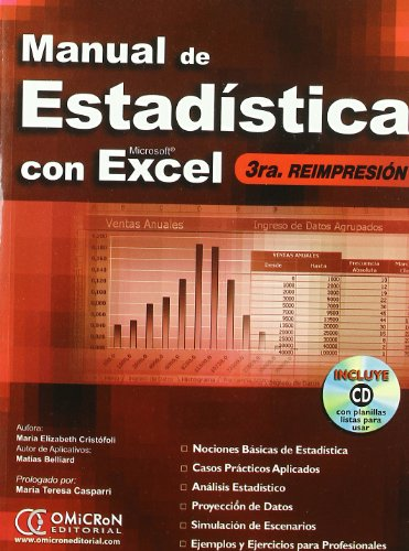 9789871046249: Manual de Estadistica Con Microsoft Excel (Spanish Edition)