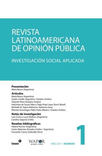 Revista Latinoamericana de Opinion Publica N 1: Maria Braun