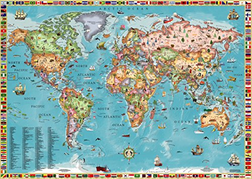9789871663057: World Map for Kids (Laminated)