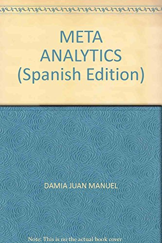 9789871716142: META ANALYTICS (Spanish Edition)