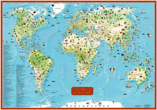 9789872027179: Children's World Map (Wall Map) (Illustrated World Map) (Map)